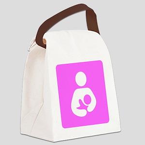 Breastfeeding Symbol [Pink] Canvas Lunch Bag